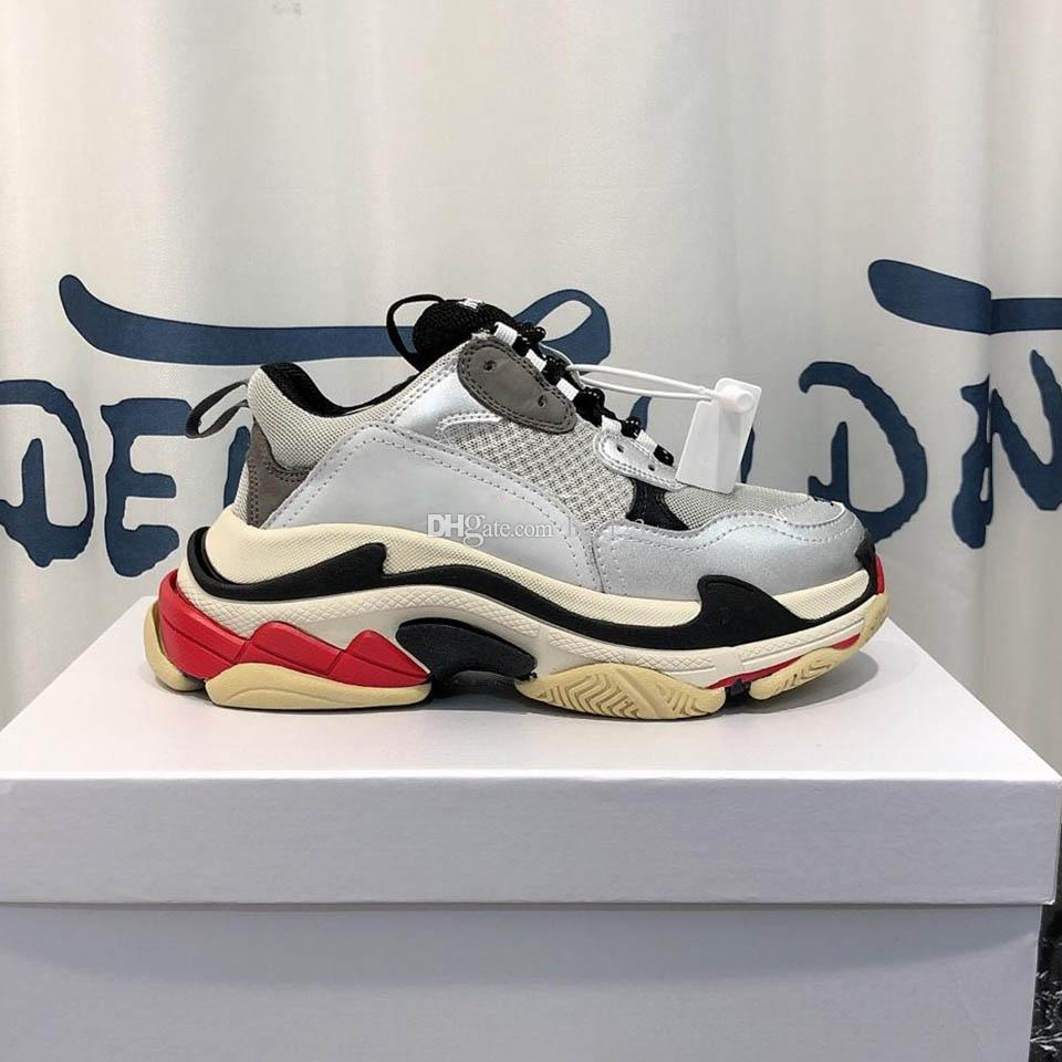 Triple s zapatillas de deporte Superstar sirve para hombre zapatos de mujer zapatos de diseño de color tienen 35 zapatillas de deporte de la moda modelo 35-45 ZX14