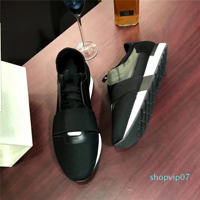 2019 appartamenti Luxury Design del progettista di marca del cuoio genuino degli uomini SNEAKERS MENS CORRIDORI DONNE Skateboard scarpe casual donne T03