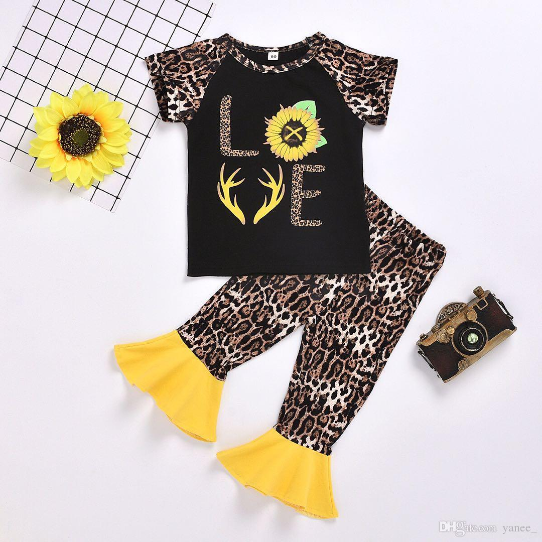 CA Newborn Kid Baby Girl Sun Flower Print Tops+Pants Summer Outfits Clothes 2PCS