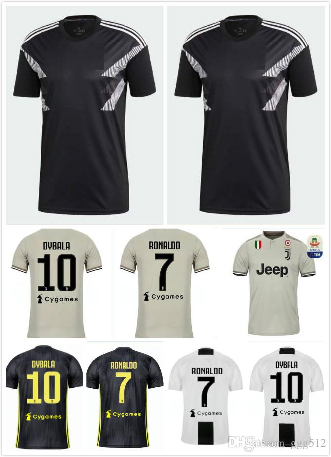 check out 7a539 0ba34 2019 New 18 19 RONALDO JUVENTUS Jersey 2018 2019 Champions League JUVE Home  Away Third Soccer Jersey DYBALA CHIELLINI BUFFON Football Shirts From ...