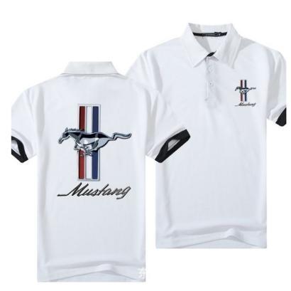 estate Polo da Uomo del motociclo a manica corta magliette di alta qualità sportiva del pullover T superiori Turn-down Collar y6