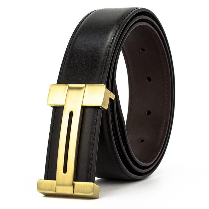 Fashion Designer Hip-hop Belts Unisex Solid Color Waistbands Luxury Genuine Leather Waist Straps Men Women Trousers Belts
