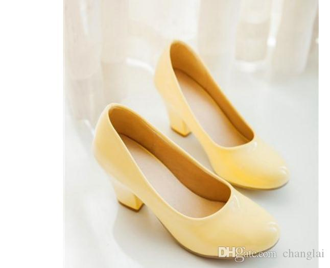 Livraison gratuite printemps et en automne 2018 nouvelle mode style tête ronde chaussures pour femmes