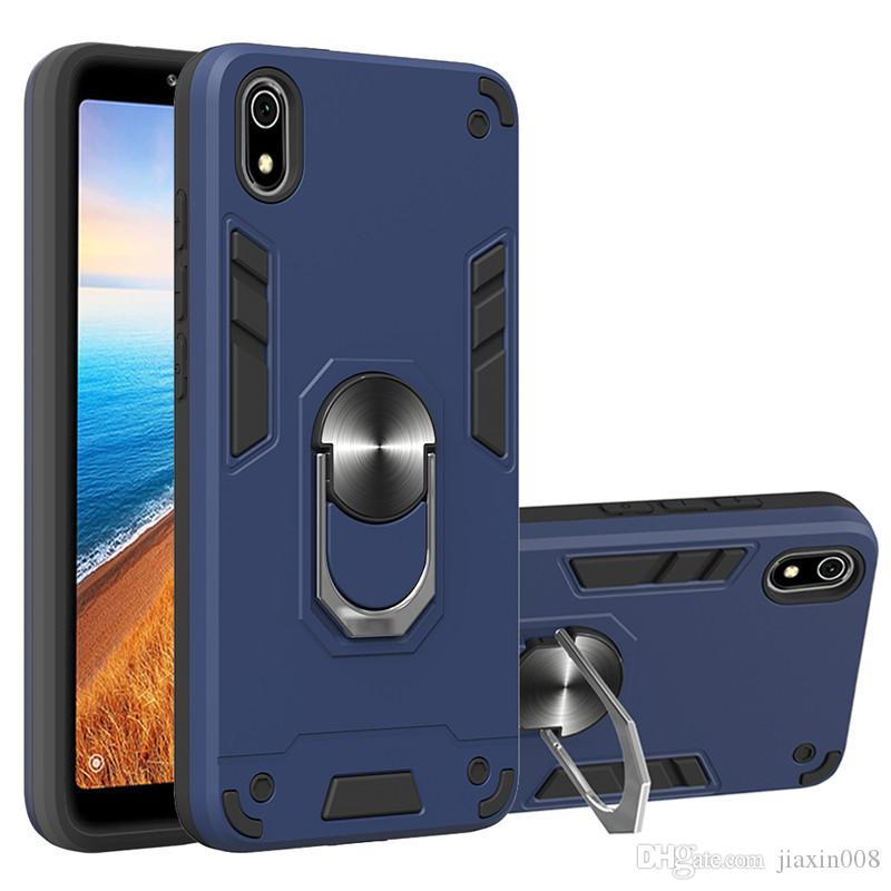 Armour Metal Car Ring Holder Case For Xiaomi Redmi Note 6/Note 6 Pro/Note 7/Note 7 Pro Magnetic Phone Back Cover