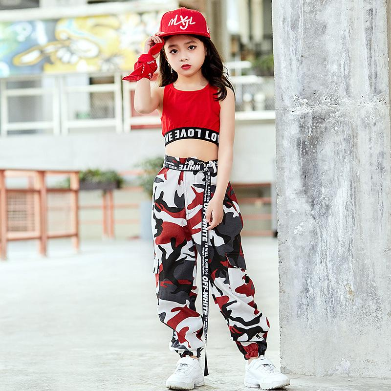 Girls Street Dance Wear Costume Hip Hop Clothing Children/'s