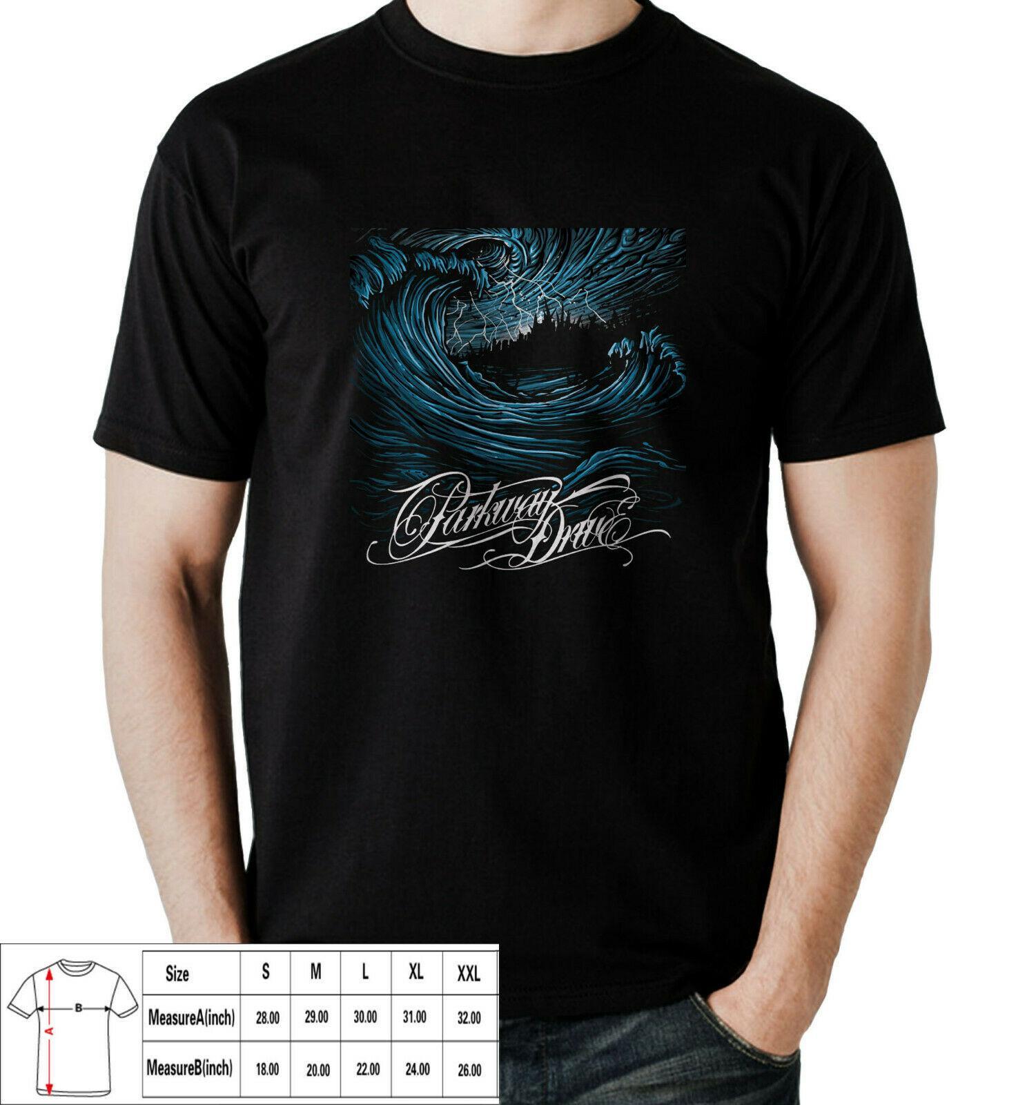Parkway Drive Deep Blue Metalcore T-shirt pour les hommes S-3XL ASIE Taille T-shirt pour les hommes Hauts O-Neck Homme
