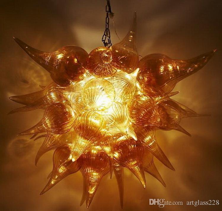 Викторианский Улучшенный Дешевые Витраж Люстра LED источник света Европейский высокого качества Цветные стекла Кри