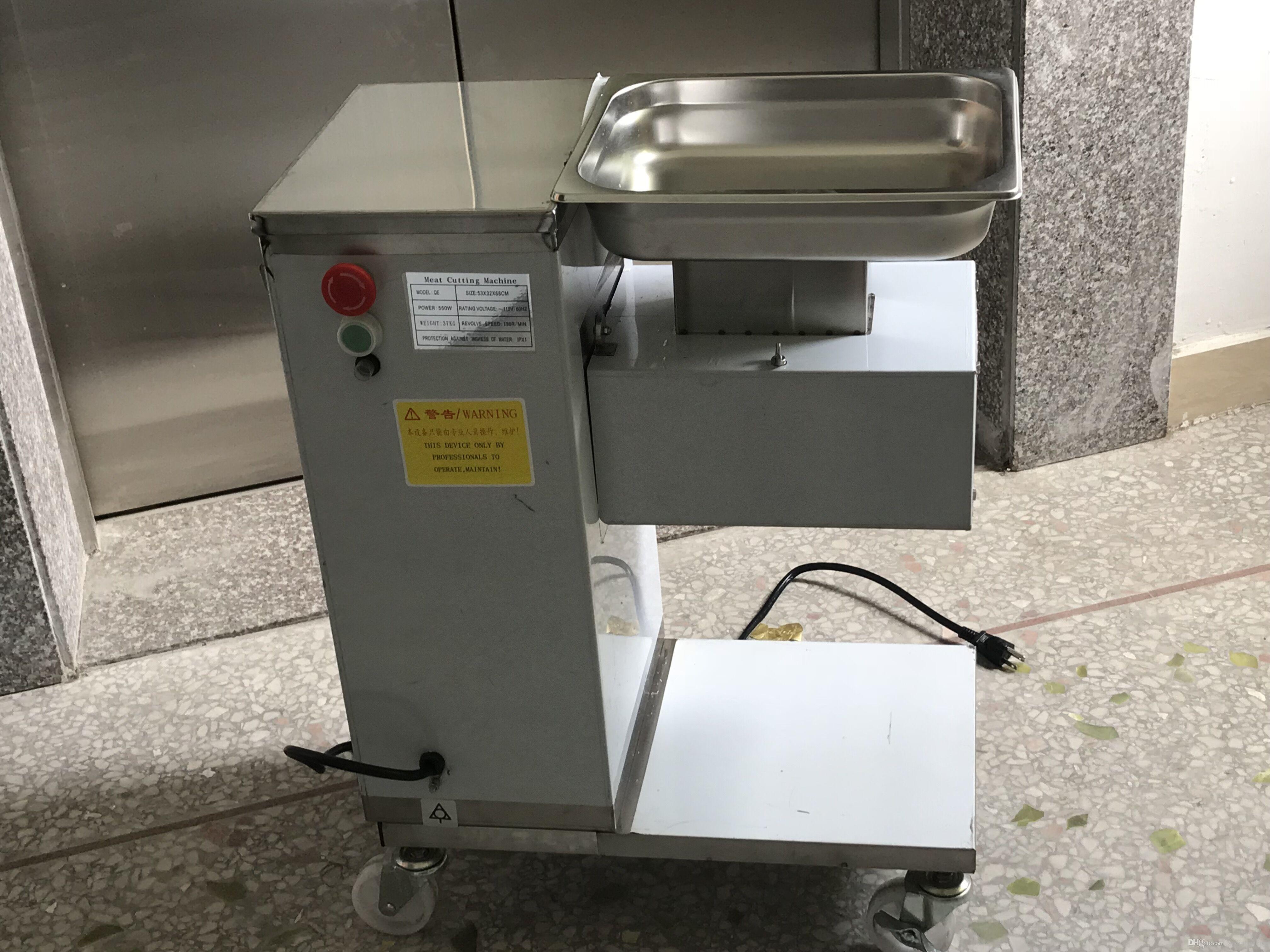 Freies Verschiffen QE Modell 110V Fleischschneider Für Hühnerbrust Fleisch Slicer Rrestaurant Fleischschneidemaschine