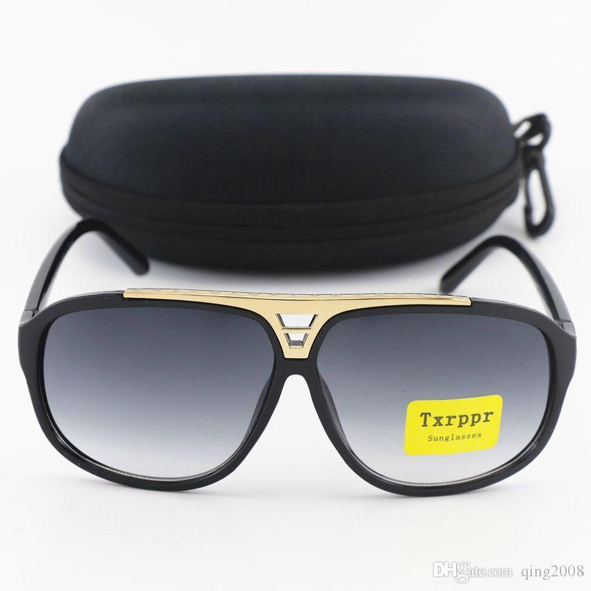 고품질의 새로운 남성 여성 선글라스 광택 블랙 골드 프레임 62mm 스포츠 색안경은 상자와 함께 가자