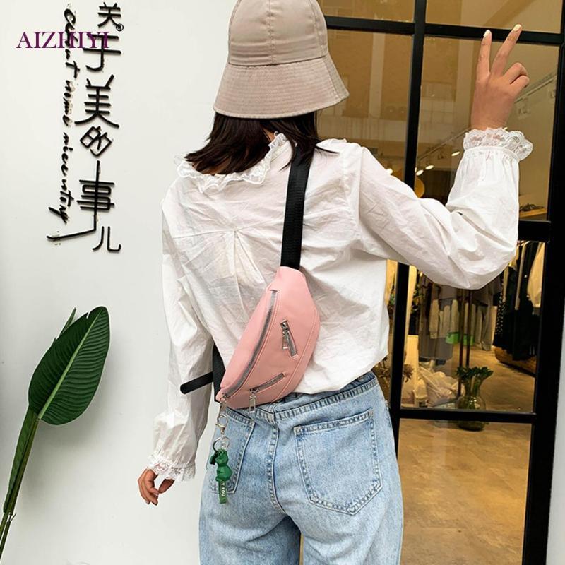 Kadınlar Moda Fermuar Fanny Bel Çantası Kadınlar PU Kurbağa kolye Crossbody Göğüs Kılıfı
