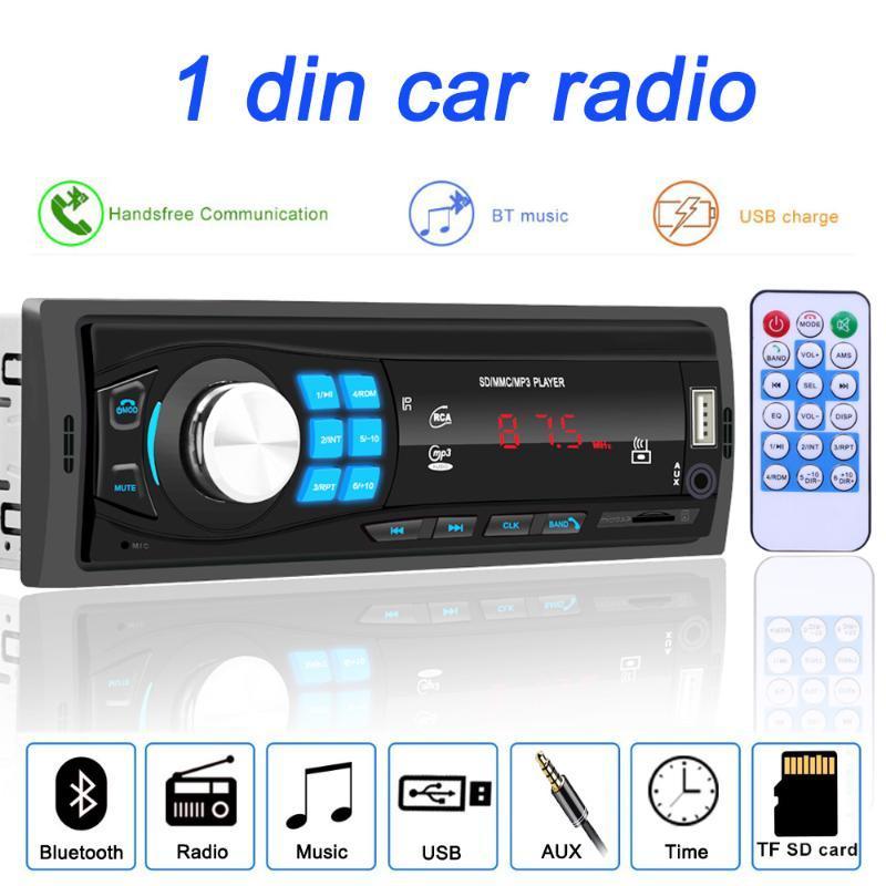 Stereo Bluetooth 12V Autoradio Radio FM AUX-IN USB Ricevitore SD In-dash 1 din Lettore MP3 multimediale