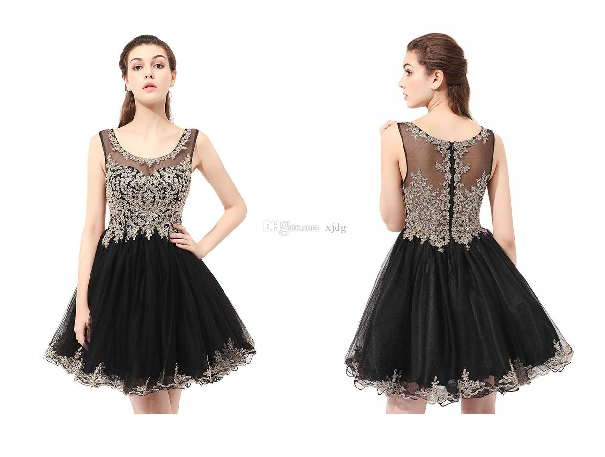 9 Colors Crystals Beading Cheap Short Prom Dresses Sheer Neck A line Mini Evening Gowns Cocktail Party Homecoming Dresses Robes De Soirée