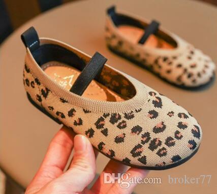 Nuovo arrivo scarpe firmate scarpe sportive Leopard Flying mesh mesh girl casual shoes 663