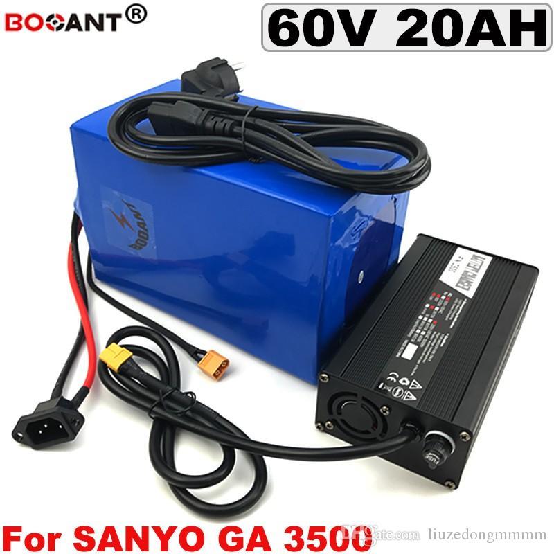 60V 20AH E-bike Batería de litio para batería de bicicleta eléctrica original Sanyo 18650 celular 60V 1500W con cargador 5A Envío gratis