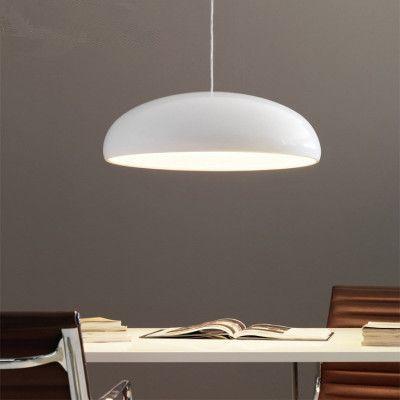 LED Luzes Pingente moderno para jantar Sala de estar Restaurante Bar Início Hanging Lamp Luminárias Black White abajur Acrílico Tampa