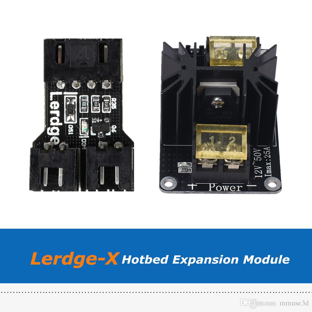 Lerdge 3D Printer Parts Hotbed Adapter Module + High Power Heat Bed Expansion MOS Module For Lerdge X Board