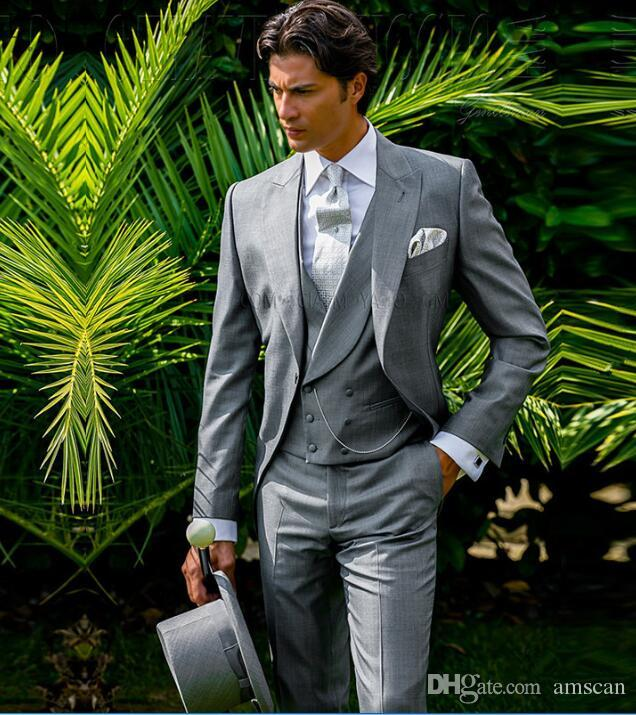 Business Casual Suit Men 3 Pieces Set Prom Party Formal Groom Wedding Dress Groomsman Tuxedo Slim Fit Best Men Tail CY08