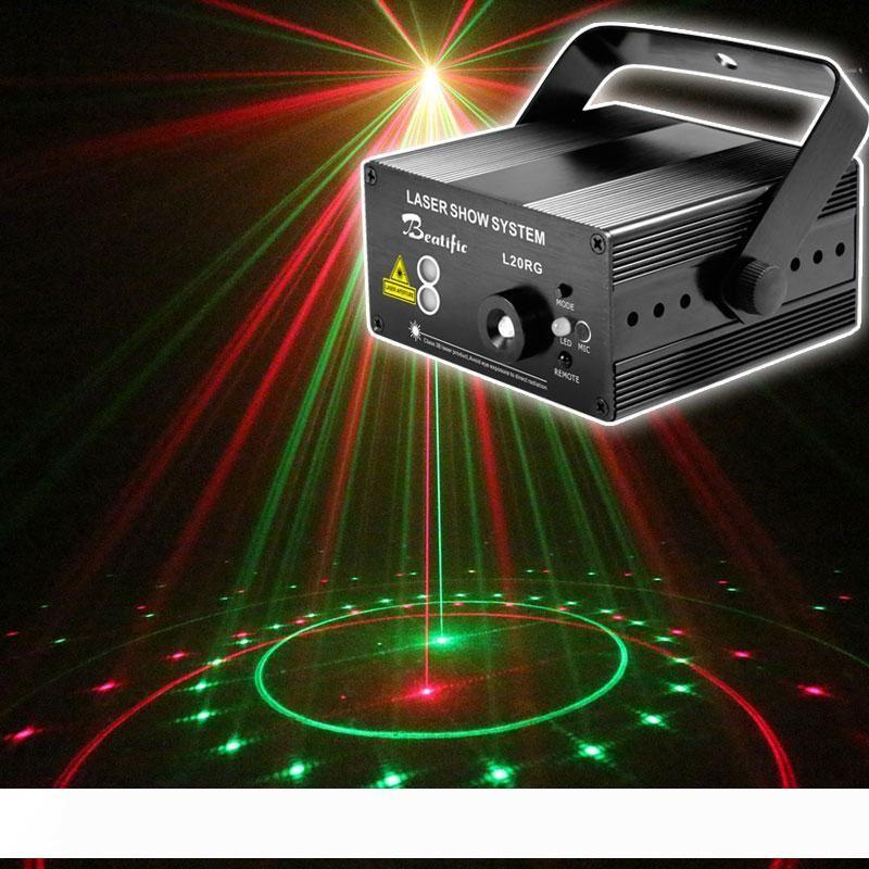 Proiettore laser Mini illuminazione della fase del partito della discoteca ha condotto la luce illumina Rosso Verde