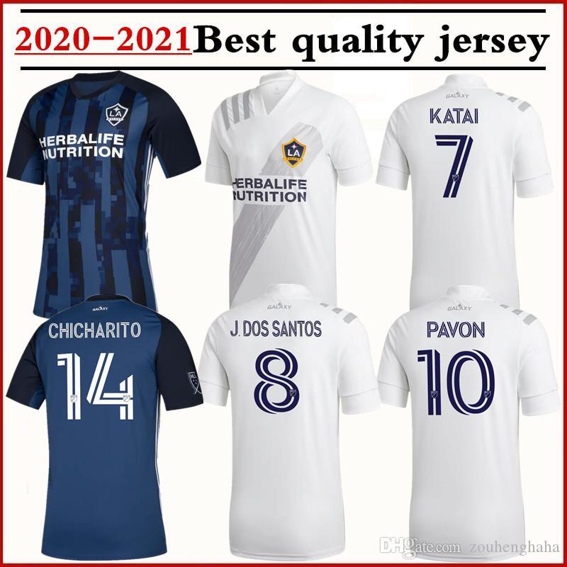 2020 2021 MLS LA Galaxy Player versione CHICHARITO maglia da calcio a 20 camicie Galaxy DOS SANTOS IBRAHIMOVIC PAVON Katai Calcio 21 Los Angeles