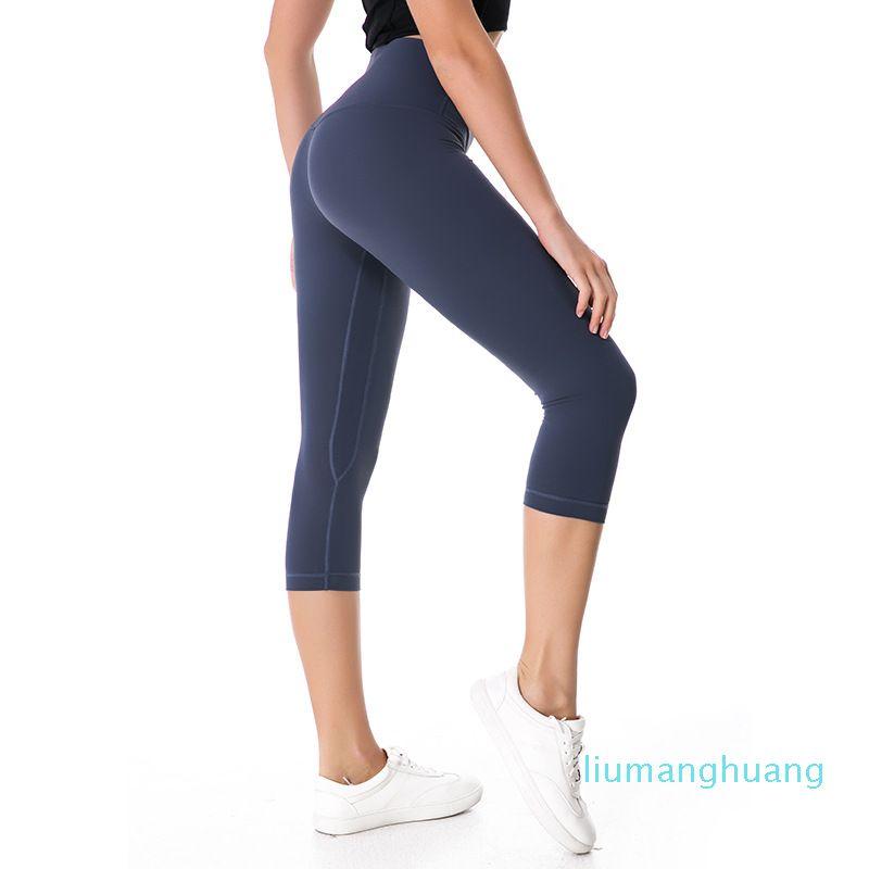 NWT Eshtanga Kadın Capris Üst Kalite Kadınlar Yoga Yüksek Elastik Bel Katı Skinny Stretch Tayt XXSbedeni-XL Ücretsiz Kargo Üst