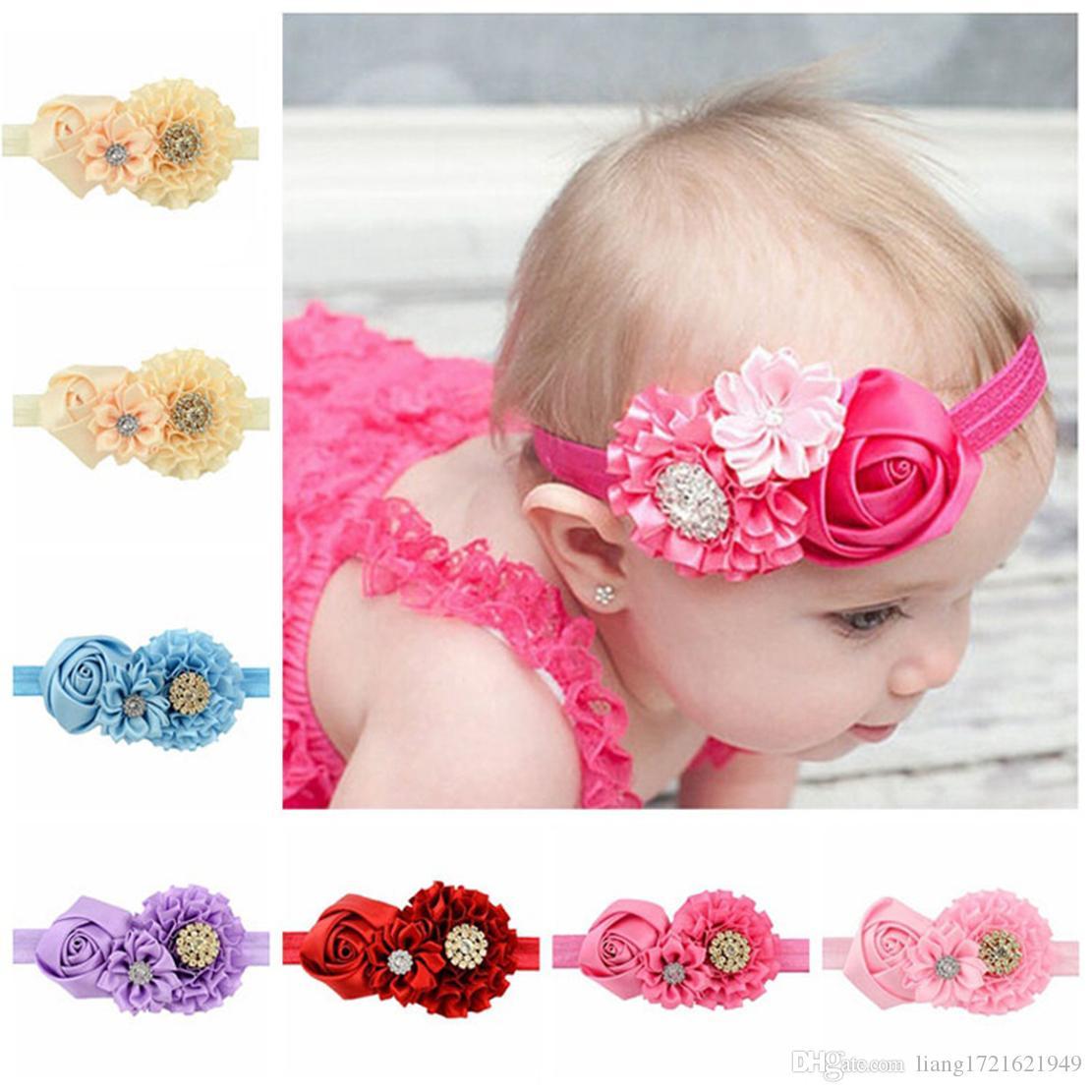 8 Haarband-Haarzusätze Europa und Amerika der neuen Kinder rosafarbenes Babybabystirnband