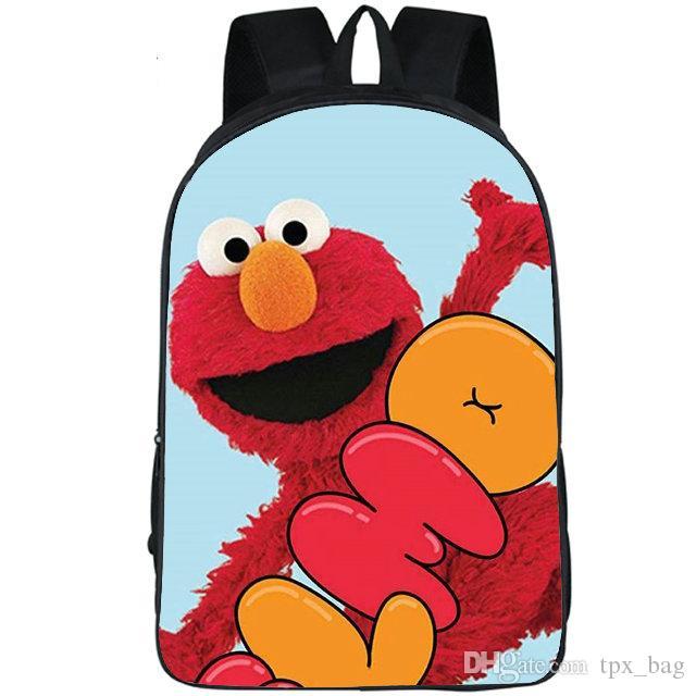 Sac à dos Elmo rue Sésame daypack veut jouer dessin animé Cartable sac à dos imprimé loisirs sac d'école de sport pack jour en plein air