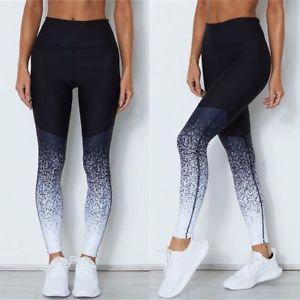 Esportes das mulheres Yoga Workout Ginásio de Fitness Gradiente Leggings Calças Roupas Atléticas Yoga calças leggings de fundo das mulheres