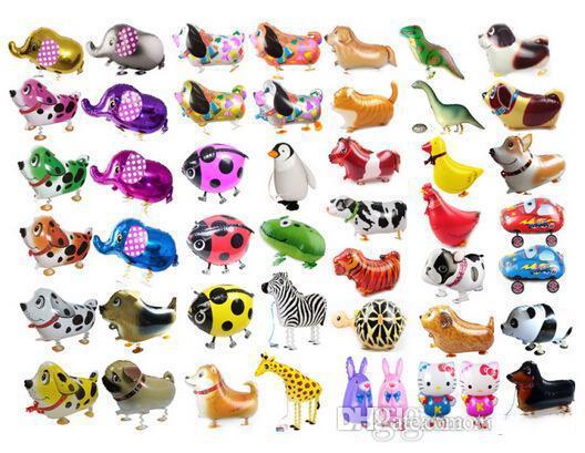 Прогулки Pet животных Гелий Алюминиевая фольга шар Автоматическая запайки Дети Baloon игрушки подарок для дня рождения венчания рождества Supplies OTH071