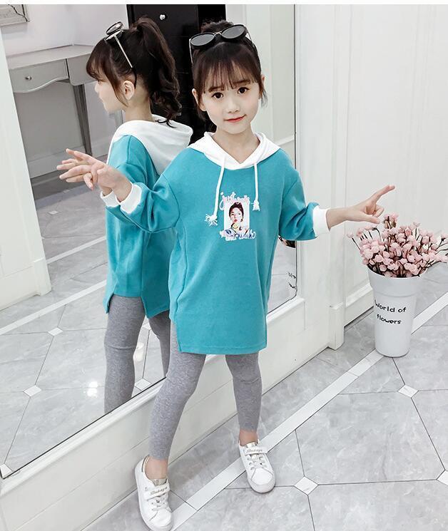 Vêtement fille automne bébé vêtements ensemble nouveau modèle enfants coréens volonté enfant costume de chandail de style occidental