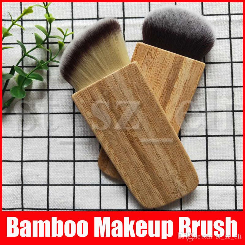 Moda Profesional de Bambú Handle Blush Cepillos Cosméticos compone el cepillo Para las mujeres de herramientas de belleza