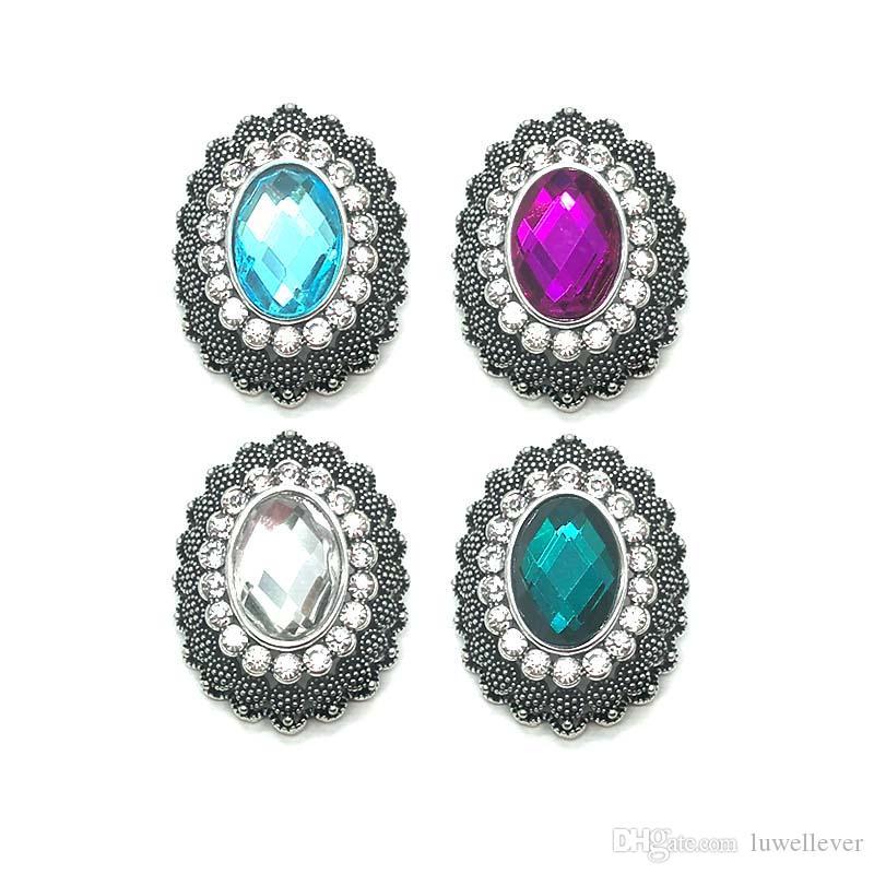 Оптовая W369 цветок 3D 18 мм 25 мм 30 мм металл Snap кнопка для браслет ожерелье сменные ювелирные изделия женщины аксессуары выводы