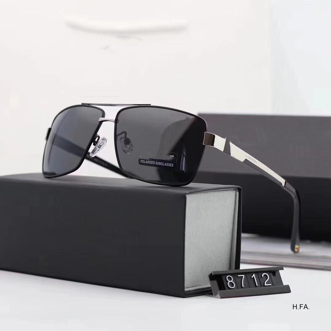 Nuevas gafas de sol polarizadas de alta calidad de las mujeres de los hombres y las gafas de sol retro vidrios cuadrados clásicos de conducción opción de 3 colores 8712