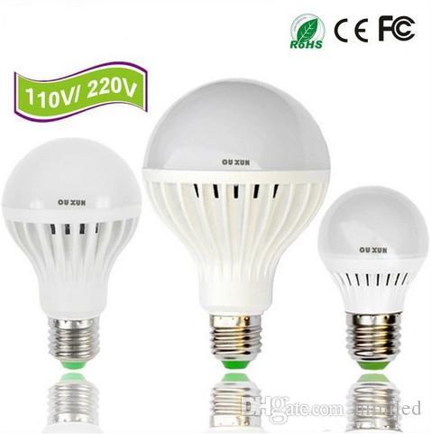 슈퍼 밝은 110V 220V 실내 빛 높은 품질 B22 E27 3W 5W 7W 9W 12W 전구 LED 조명 램프 LED 글로브 전구 홈 조명 LLFA