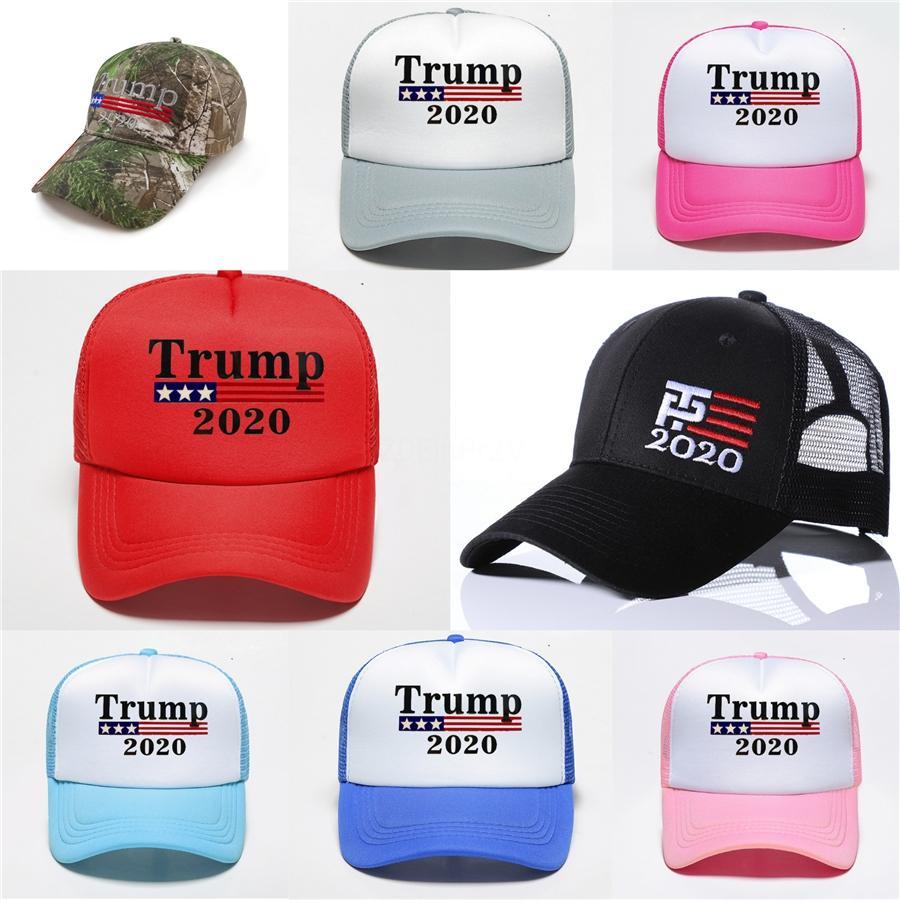 Голосовать Дональд Трамп Республиканских 2020 президент США Красочной печати Выборы грузовик Mesh Hat регулируемой Casual Sport Unisex Бейсболка # 295