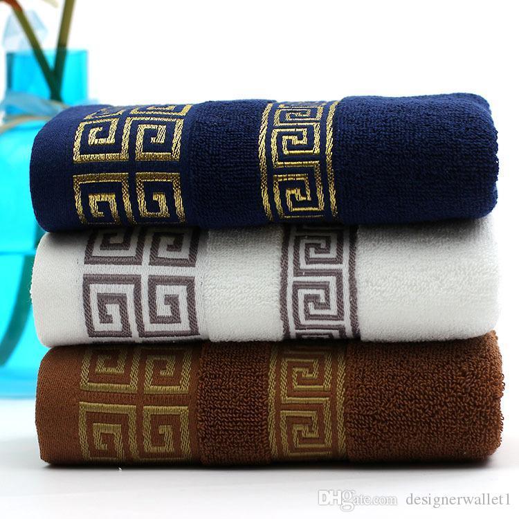 100% coton Serviette 140x70cm brodé serviettes Bamboo Beach serviettes de bain pour adultes serviettes douces à séchage rapide de visage Absorbent