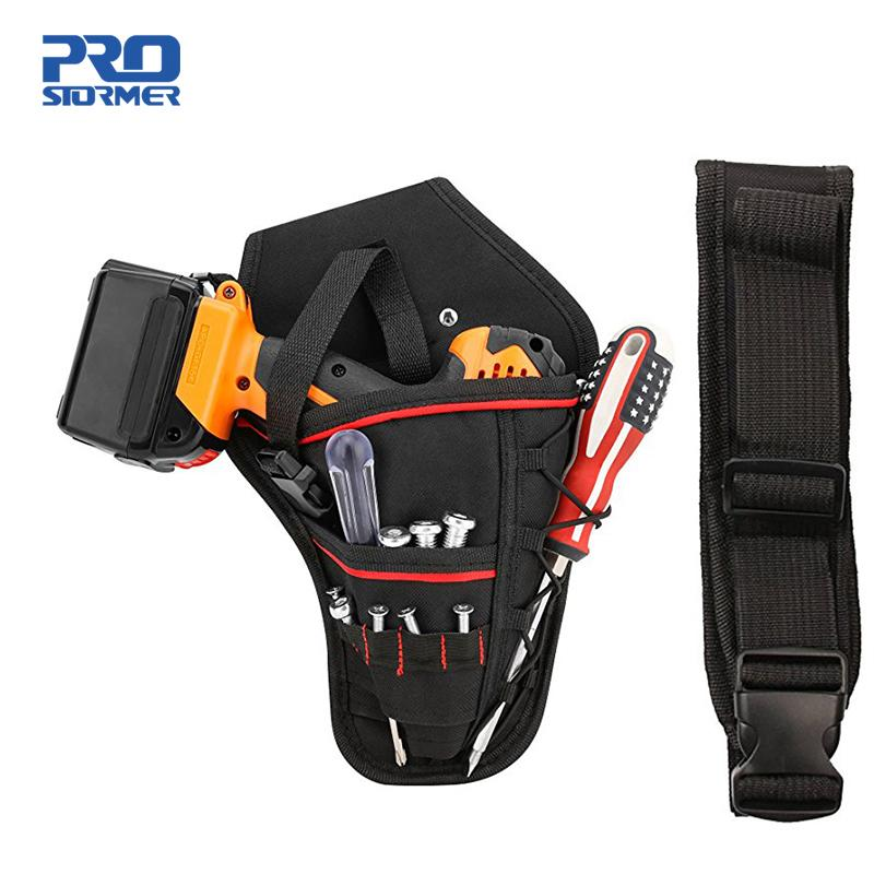 PROSTORMER Drill Holster Bit Pocket Electric wrench Holster Heavy Duty Belt Worn Right Handed Holder Fits Most T Handle Drills Y200323