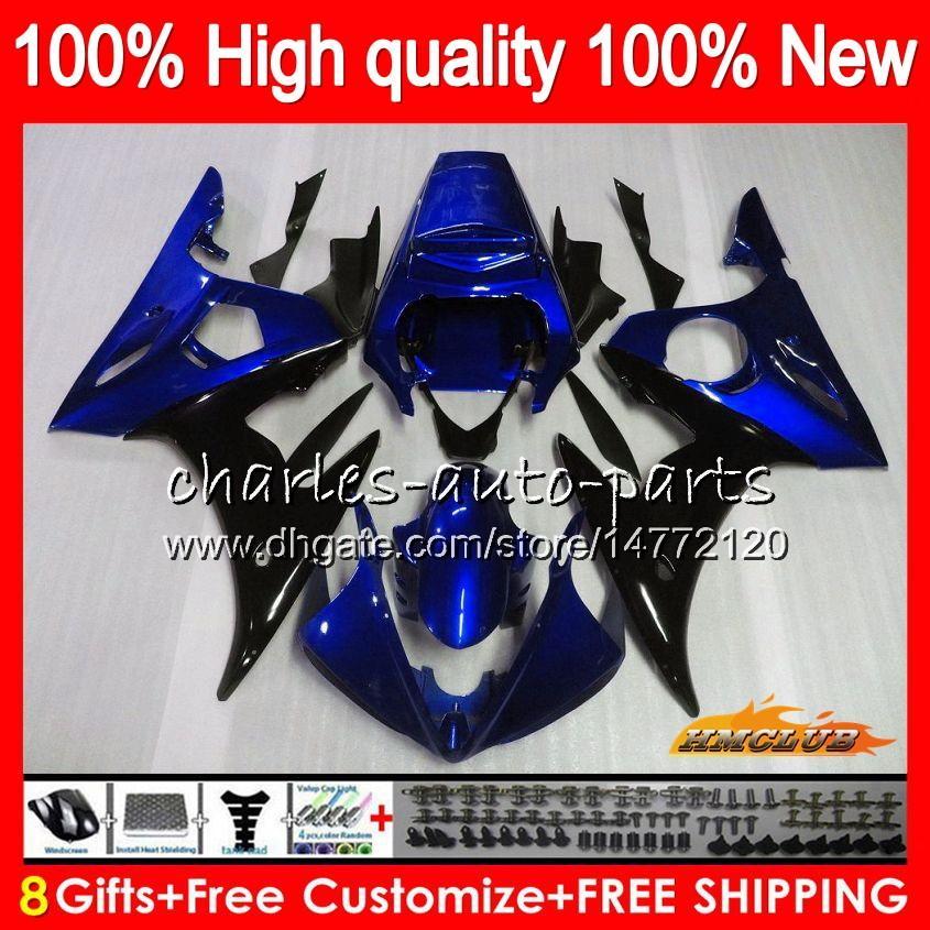 Bodys for Yamaha YZF R6 S YZF600 YZF-R6S YZFR6S 06-09 60HC.111 YZF-600 YZF R6S 06 07 08 09 2006 2007 2009 2009 Feeding + 8Gifts Balck Blue