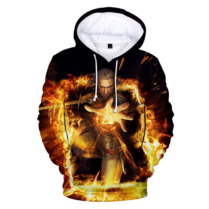 Devil hoodies Round Neck Sweatshirt Fashion Trend Style New 3D Polyester unisex Material