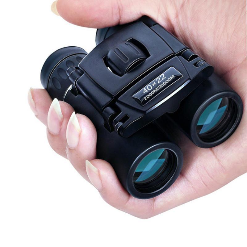 40x22 HD мощный бинокль 2000 м дальнобойный Складной мини телескоп BAK4 FMC оптика для охоты спорта на открытом воздухе кемпинга путешествия