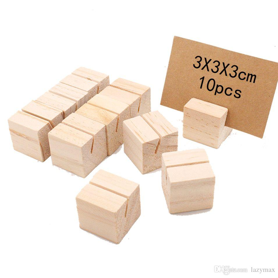 Wooden Business Name Card Holder Wedding Party Table Number Stand Milk Tea Shop Price Tag Holder Dhl From Lazymax 2 52 Dhgate Com
