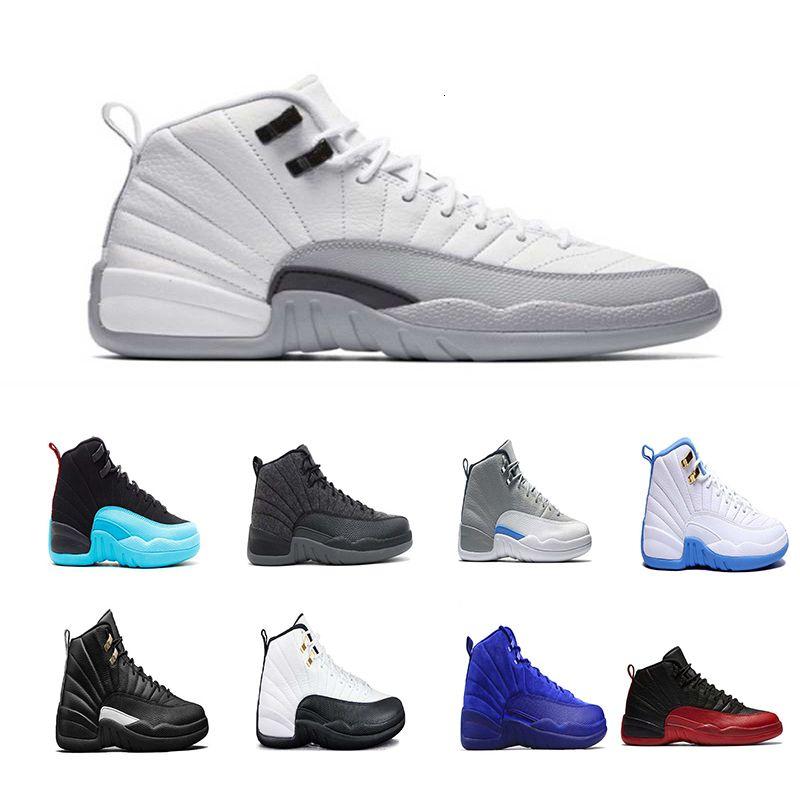 Mens 12 12s zapatos de baloncesto de lana blanca Juego de la gripe gimnasia rojo cereza GS barones franceses azul TAXI las zapatillas de deporte para las zapatillas de deporte en línea Sport