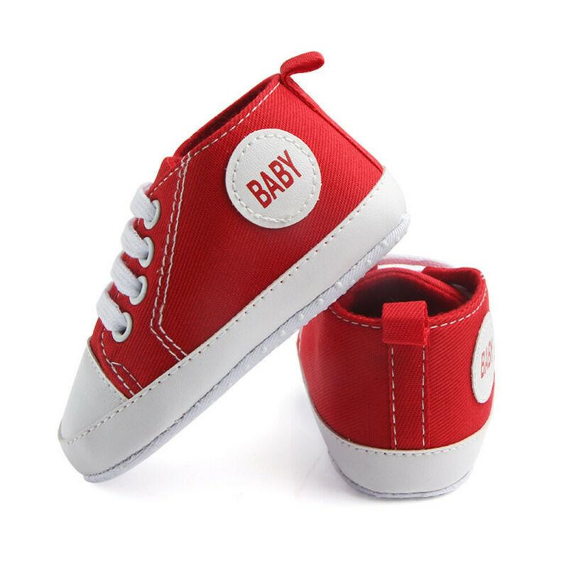 0-18M Newborn Toddler Infant Baby Boys Girls Canva Fashion Casual Pram Shoes Soft Soled Pre-Walker Walking Shoes