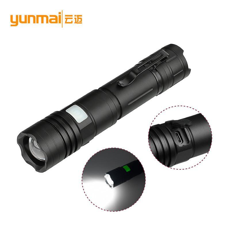 Disparos transfronteriza para XML L2 largo luz de la linterna de aleación de aluminio puede cargar Linterna llevar electricidad Display