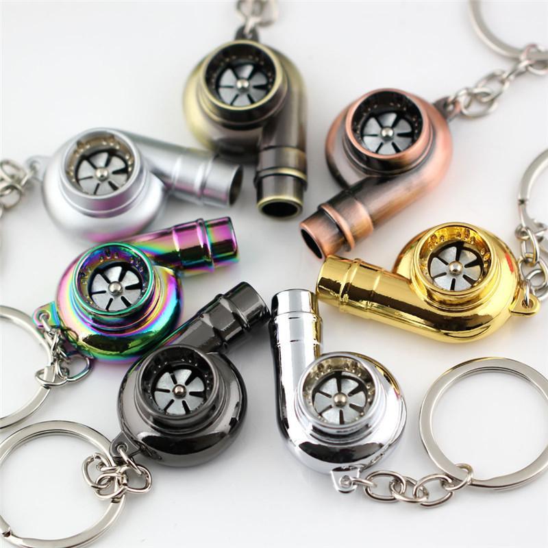 Metal Turbo Anahtarlık Kol Rulman İplik Otomatik Bölüm Modeli Türbin Turbo Anahtarlık Ring YD0476