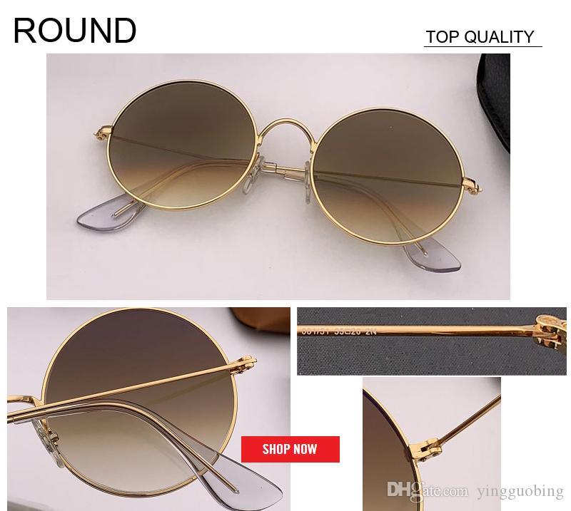 2019 gelişmeye Retro Yuvarlak Pembe ayna Güneş Kadınlar Marka Tasarımcı Kadınlar Alaşım bronz Kadın óculos De Sol İçin Güneş Gözlükleri 3592 gafas