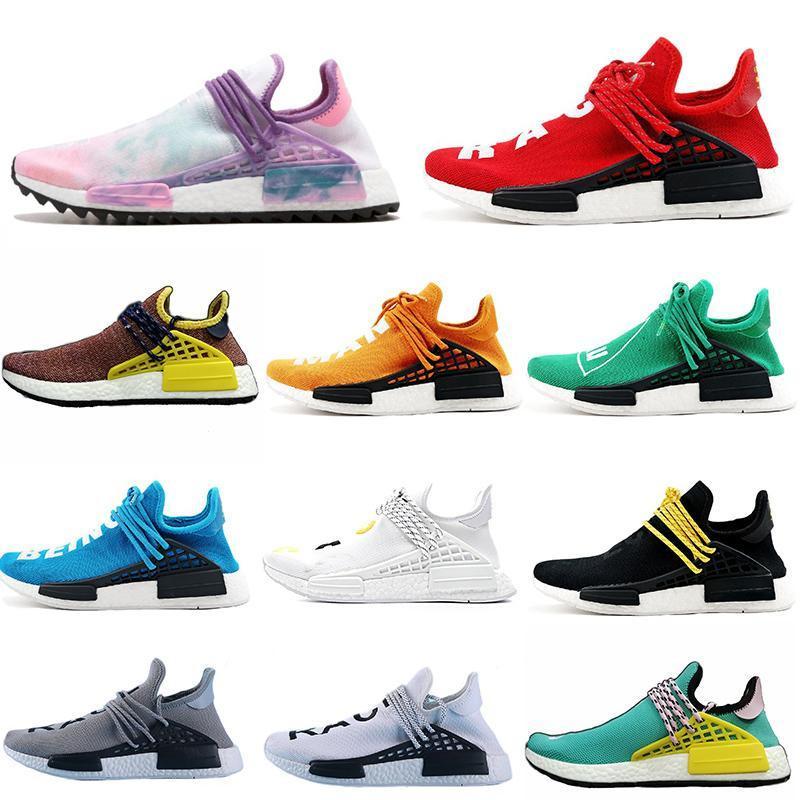 2019 رخيصة NMD الإنسان سباق Pharrell ويليامز أحذية رجالية المرأة الرياضية Mc Tie Dye حزمة الشمسية الأم مصمم الأزياء