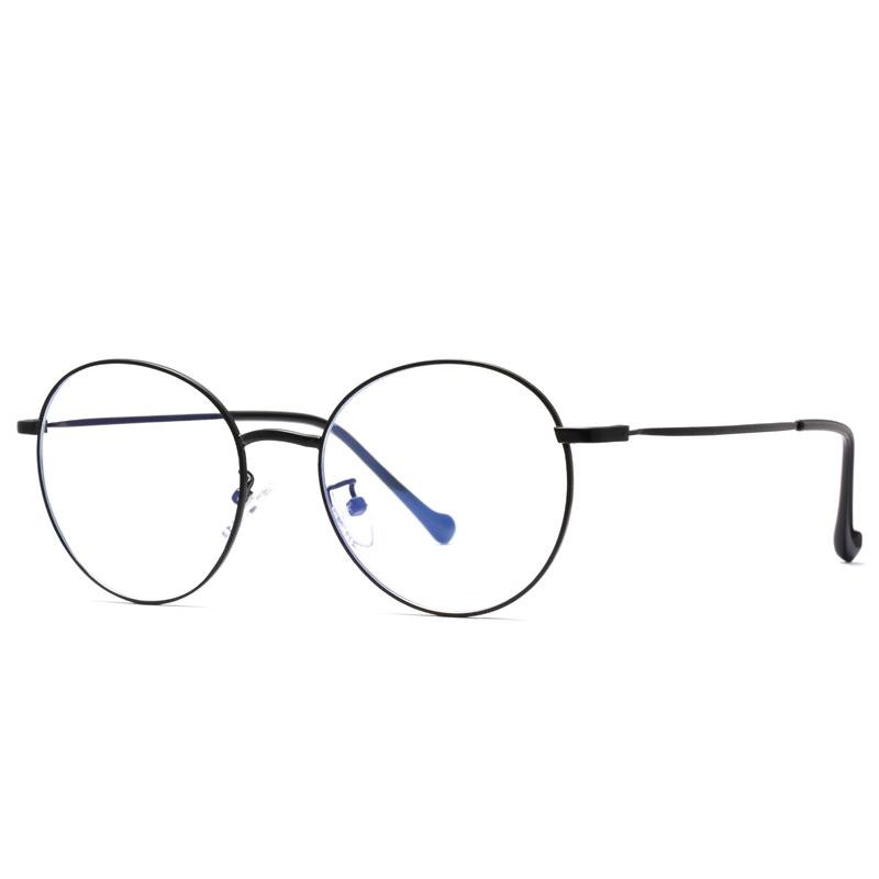 2019 New Computer reading/game glasses, round frame computer goggles, anti-blue glasses, round frame mobile goggles, student goggles 2019