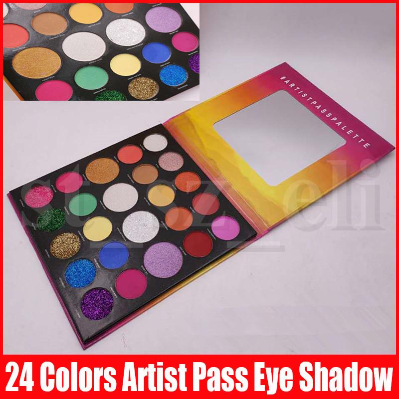 New Eye Makeup Palette 24 Colors Eyeshadow Palettes Artist Pass Matte Shimmer Glitter Long Lasting Eye Shadows
