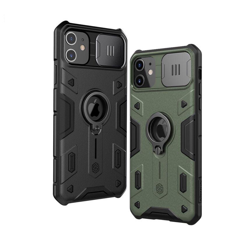 für iPhone 11 Pro Max CamShield Rüstungs-Kasten Slide Kamera Protect Privacy Ring Kickstand rückseitige Abdeckung für iPhone11 Pro