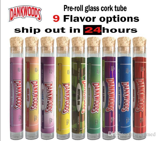 18 * 120 мм Bearwoods плоская стеклянная пробковая бутылка включает в себя бесплатные наклейки OEM DANKDOODS Backwoodsl Roll packaging l